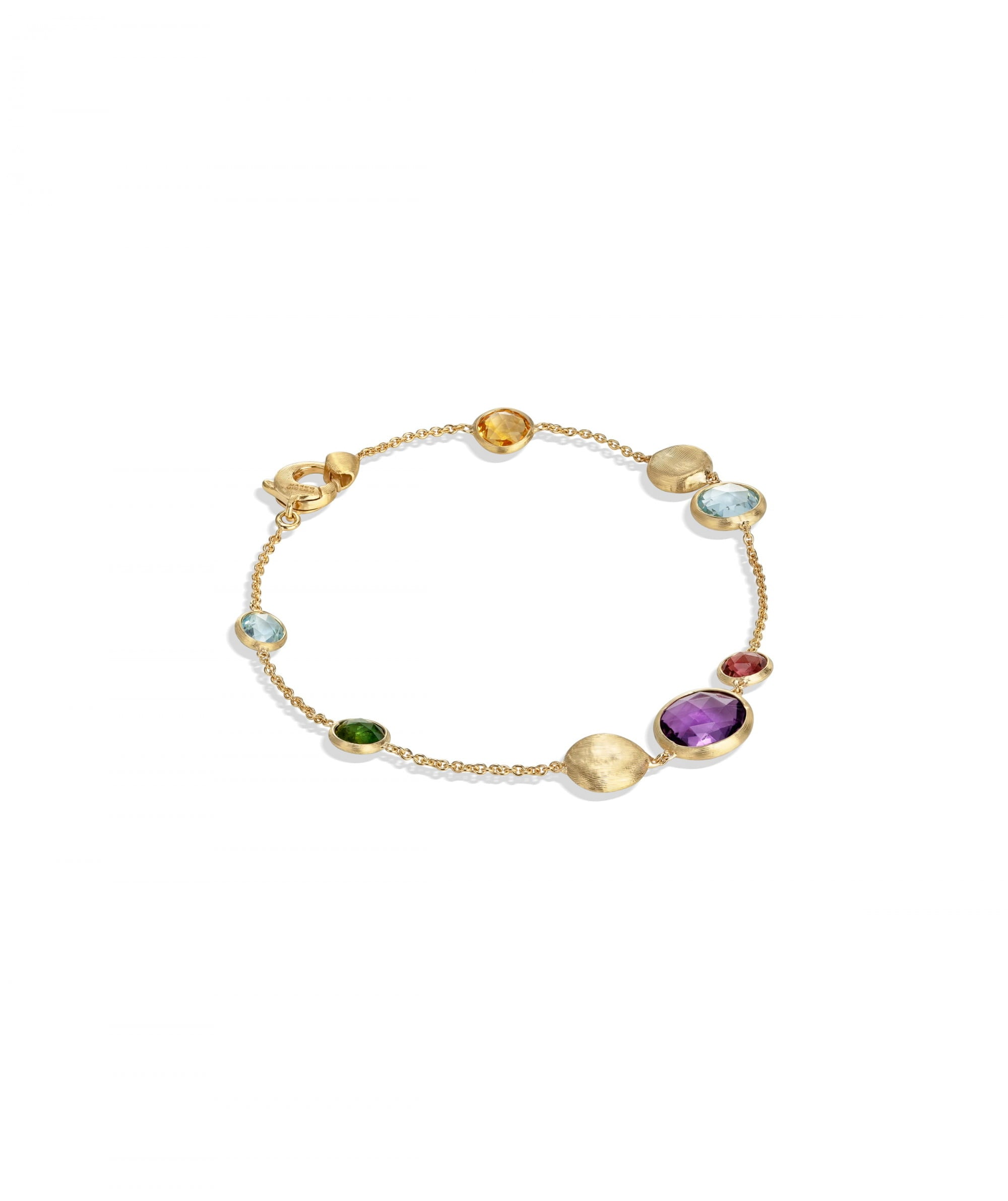 Jaipur Light Colour Bracelet in 18k Yellow Gold with Mixed Gemstones - Orsini Jewellers NZ