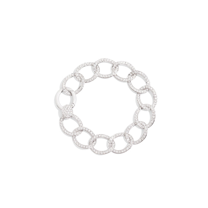 Pomellato Brera Bracelet in 18k Rhodium-plated White Gold with 311 Diamonds