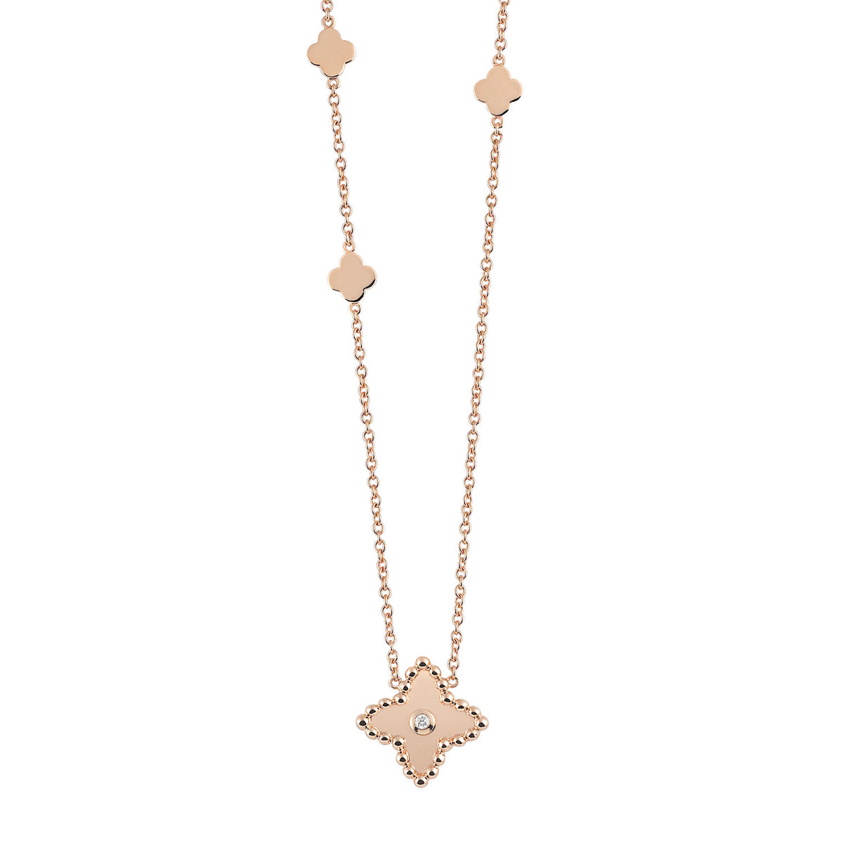 Palladio Necklace in 18k Rose Gold with Diamond