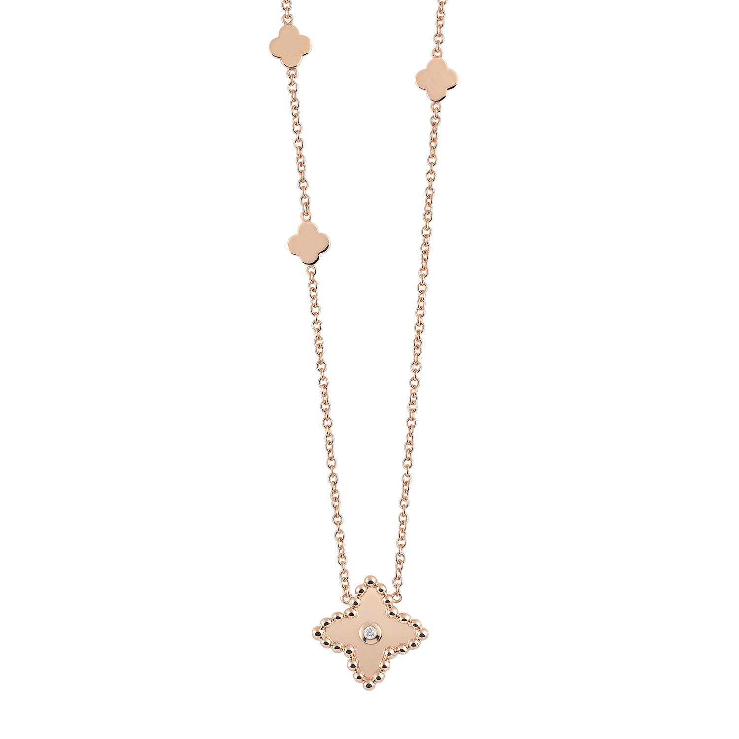 Palladio Necklace in 18k Rose Gold with Diamond - Orsini Jewellers NZ