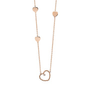 Palladio Heart Necklace in 18k Rose Gold with Diamond