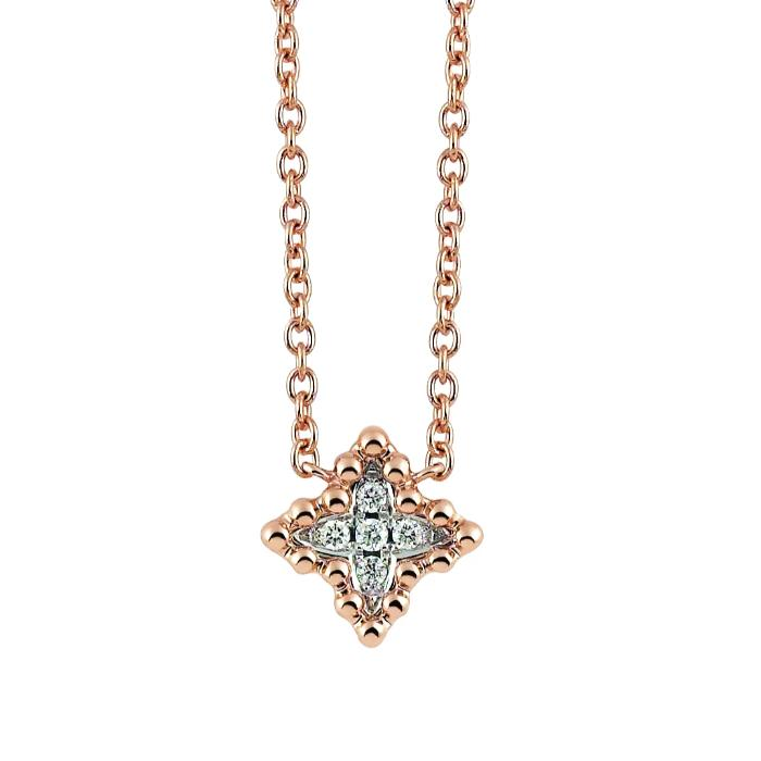 Palladio Necklace in 18k Rose Gold with Diamonds - Orsini Jewellers NZ