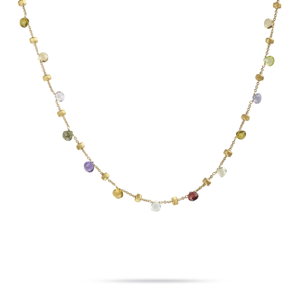 Paradise 18k Gold Single Strand Gemstone 46cm Necklace