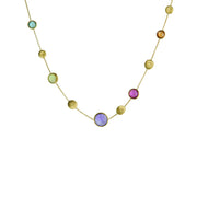 Jaipur 18k Gold Discs & Multi-Gemstone 42cm Necklace