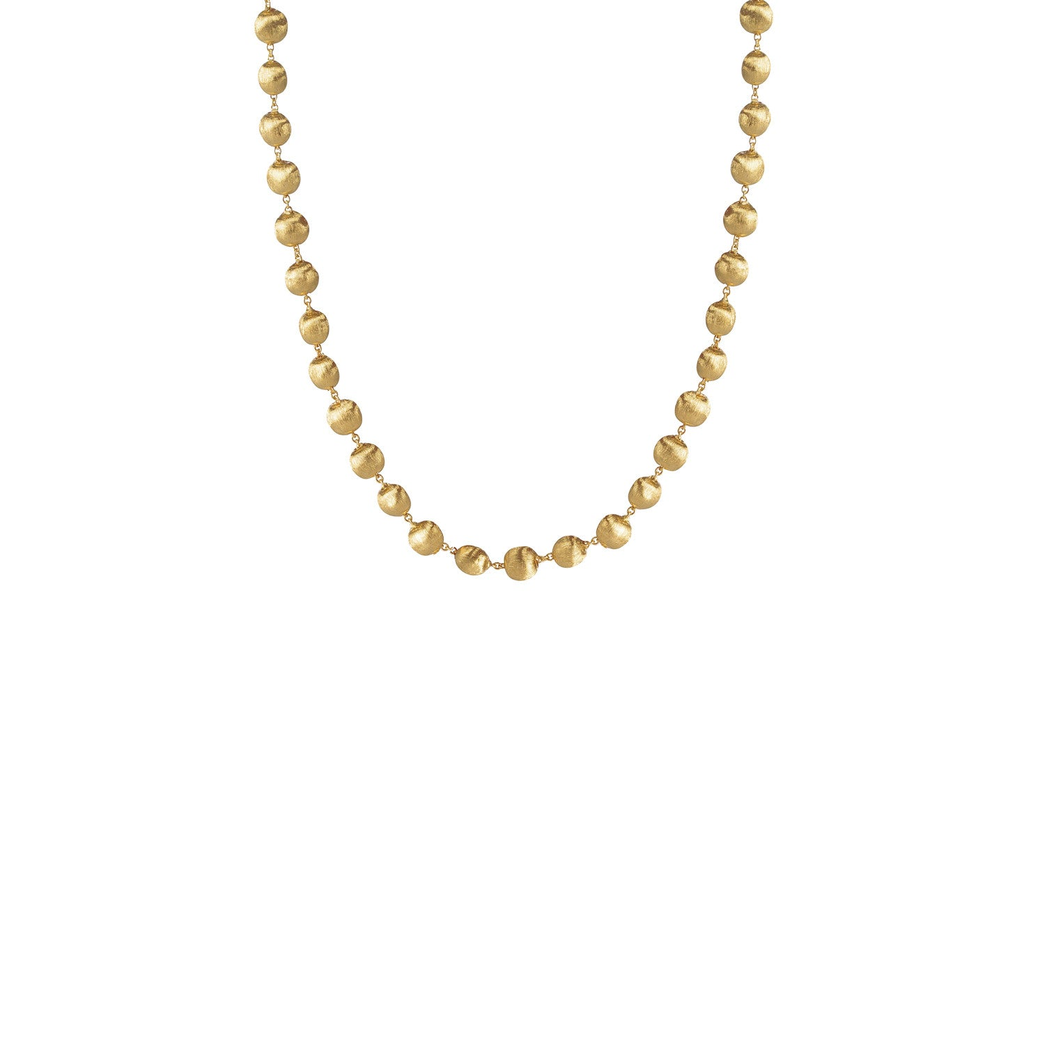 Africa Necklace in 18k Yellow Gold with Small Sized Balls - 41cm - Orsini Jewellers NZ