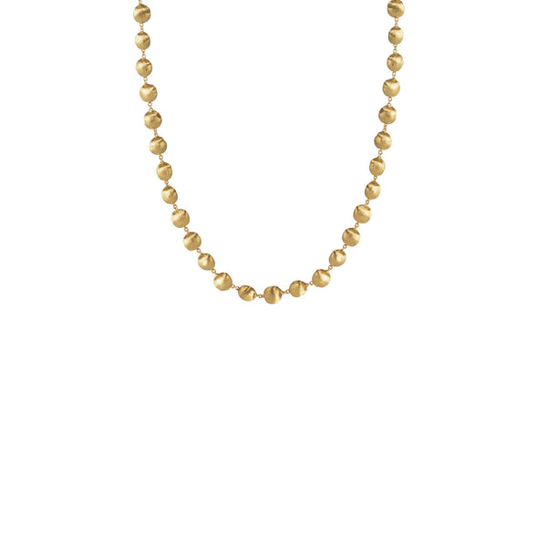 Africa 18k Small Gold Ball Shorter Length 41cm Necklace