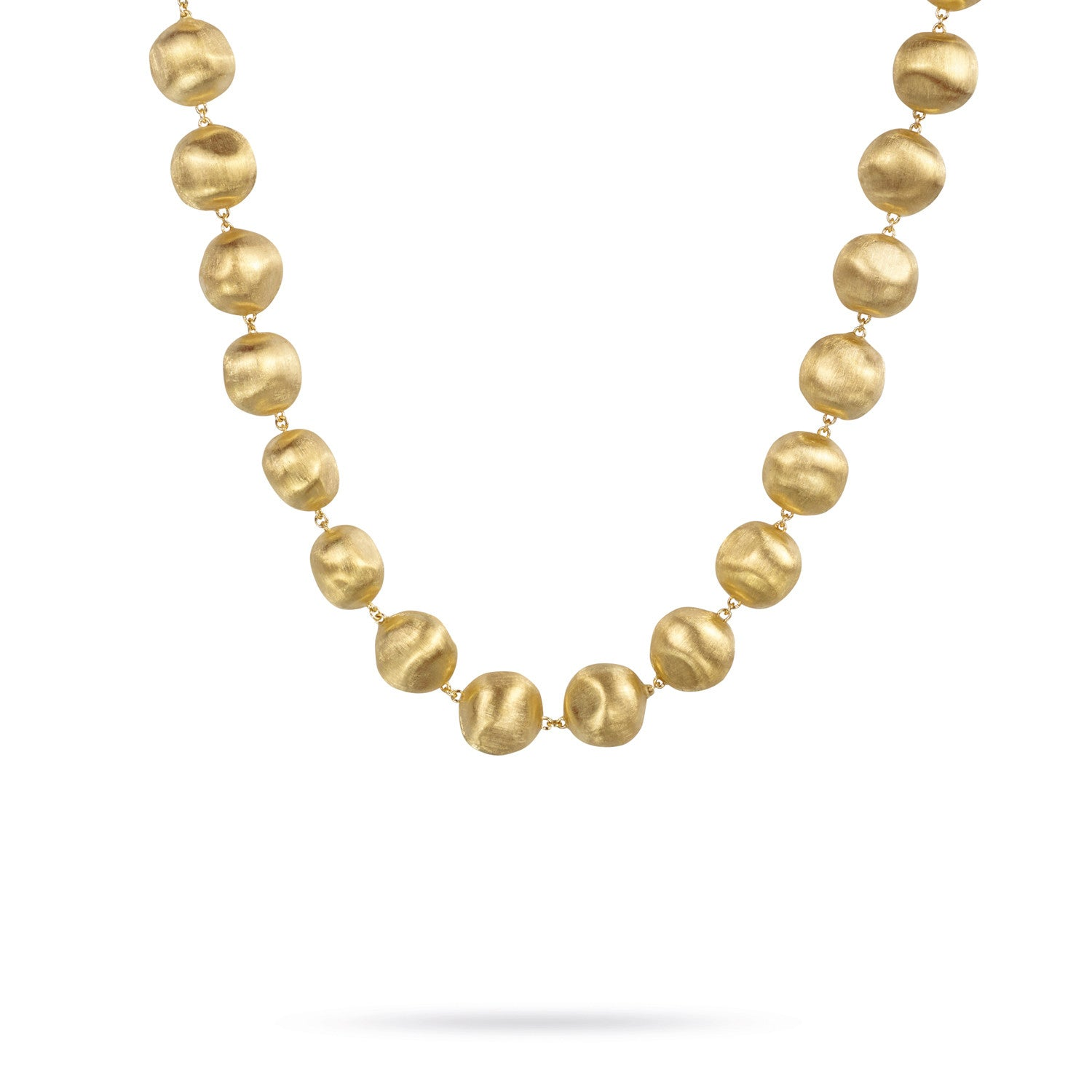 Africa Necklace in 18k Yellow Gold with Medium Sized Balls - 46cm - Orsini Jewellers NZ
