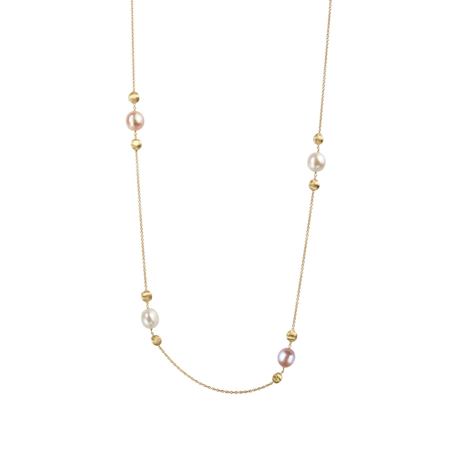 Africa Necklace in 18k Yellow Gold with Pearls - 92cm - Orsini Jewellers NZ