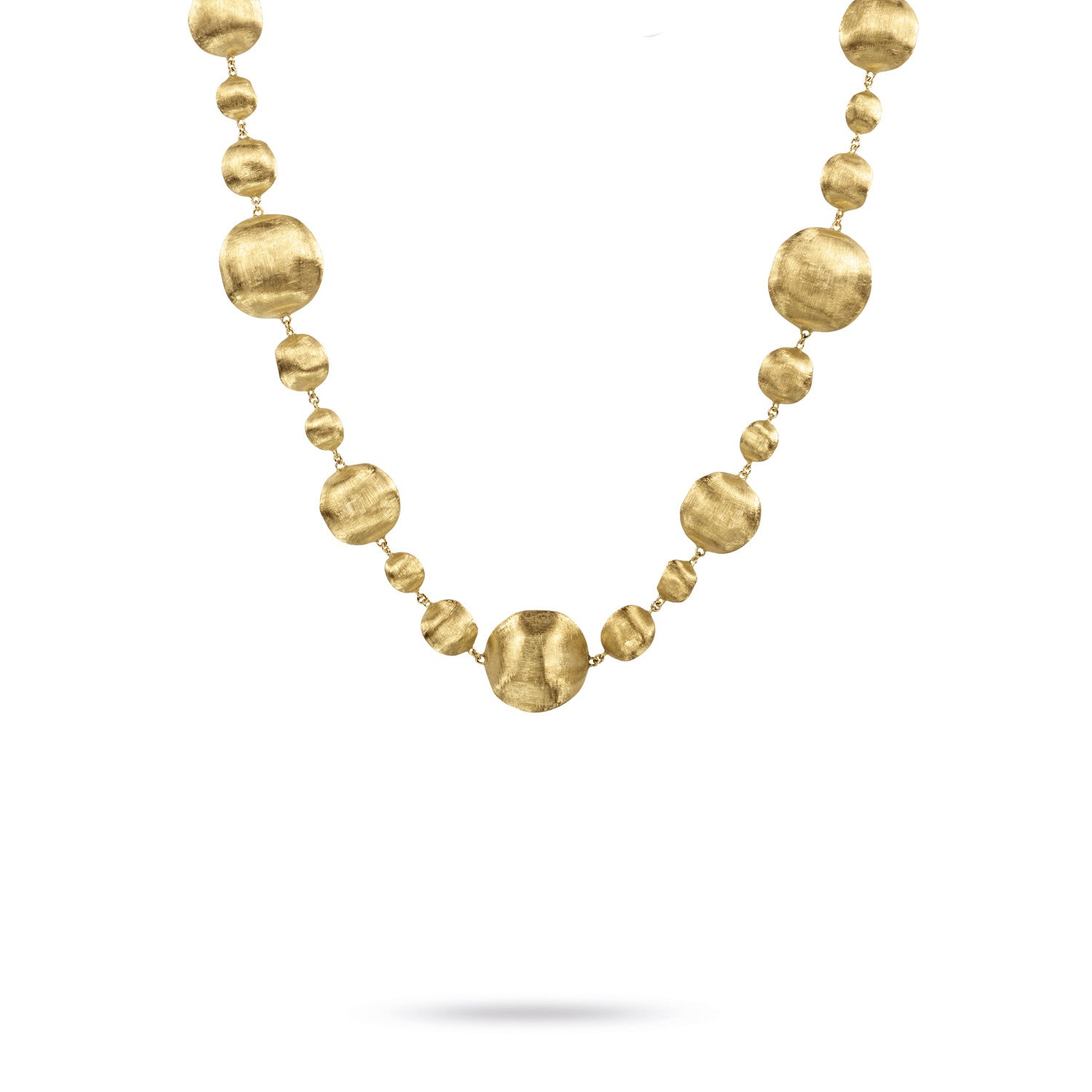 Africa Necklace in 18k Yellow Gold with Various Sized Balls - 44cm - Orsini Jewellers NZ