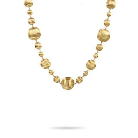 Africa Large and Small 18k Gold Ball 44cm Necklace