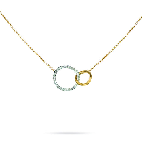 Jaipur Link 18k Gold Small Diamond Link 42cm Necklace