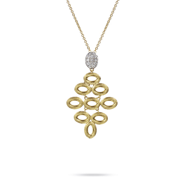 Siviglia 18k Gold Nine Circle 43cm Diamond Necklace