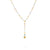 Africa Gemstone Lariat Necklace in 18k Yellow Gold with Mixed Gemstones - Orsini Jewellers NZ