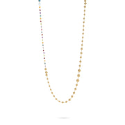 Africa Gemstone Necklace in 18k Yellow Gold with Mixed Gemstones - 92cm