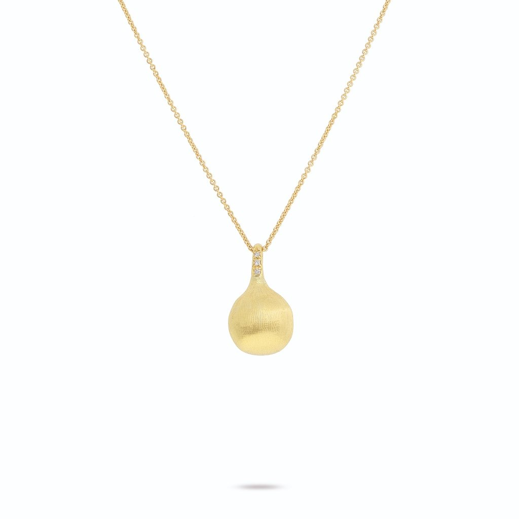 Africa Boules 18K Yellow Gold and Diamond Pendant - Orsini Jewellers NZ