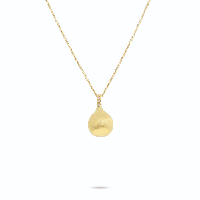 Africa Boules 18K Yellow Gold and Diamond Pendant