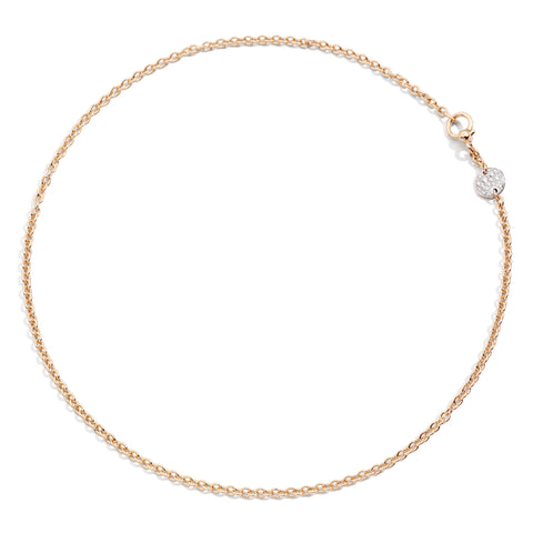 Necklace in Rose Gold with Rhodium-Plated Rose Gold Pave and Diamonds (CT 0.20)