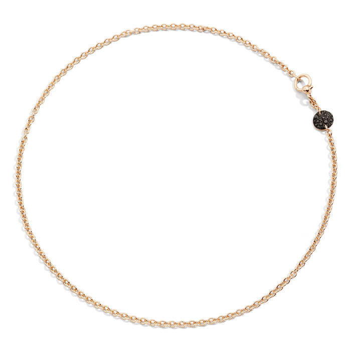 Sabbia Necklace in Rose Gold with Burnished Rose Gold Pave and Black Diamonds (CT 0.20)