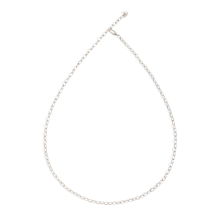 Capri Necklace in White Gold 90 cm