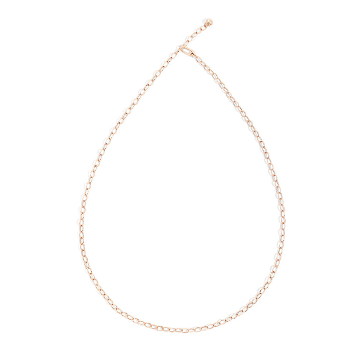 Capri Necklace in Rose Gold 90 cm