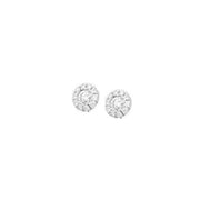 Colori Earrings in 18k White Gold with Round Brilliant Diamonds and Micropavé Diamonds