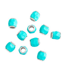 DoDo Granelli Bead Silver with Turquoise Resin