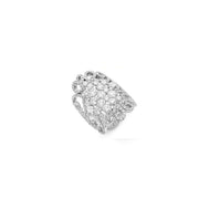 Crystal Rose Ring in 18k White Gold with Diamonds