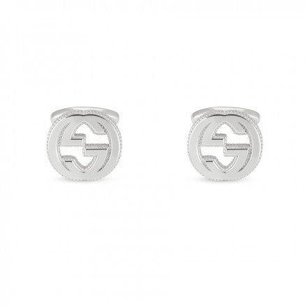 Gucci Interlocking G Cufflinks in Sterling Silver