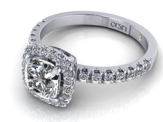Cuscino-Cut Micropavé Diamond Ring by Orsini NZ