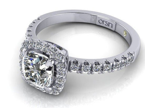 Orsini Cuscino-Cut Micropavé Diamond Ring