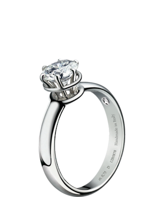 Damiani 18k White Gold Diamond Minou Engagement Ring