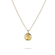 Delicati Siviglia Pendant with Chain in 18k Yellow Gold