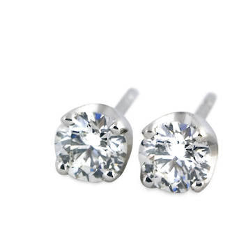 18k White Gold 0.86 carat Diamond Earrings