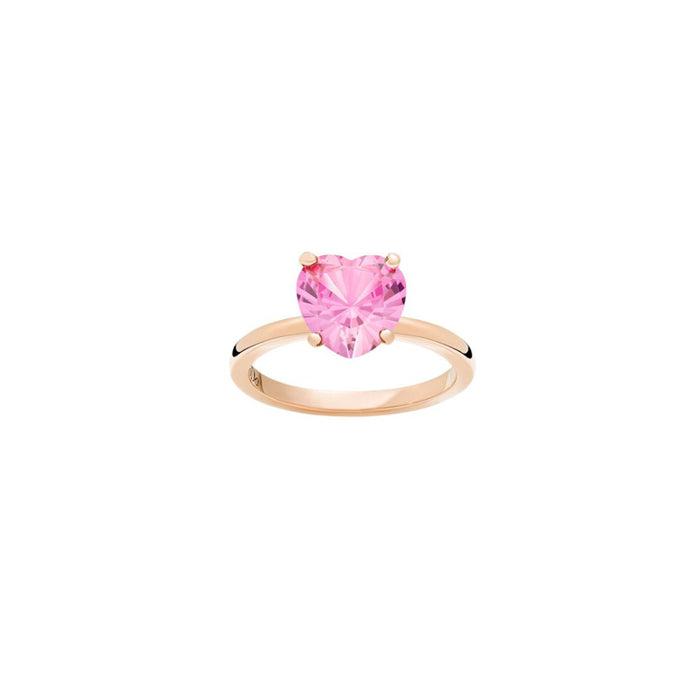 DoDo 100% Amore Ring in 9k Rose Gold with Pink Synthetic Sapphire - Orsini Jewellers NZ