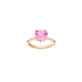 DoDo 100% Amore Ring in 9k Rose Gold with Pink Synthetic Sapphire