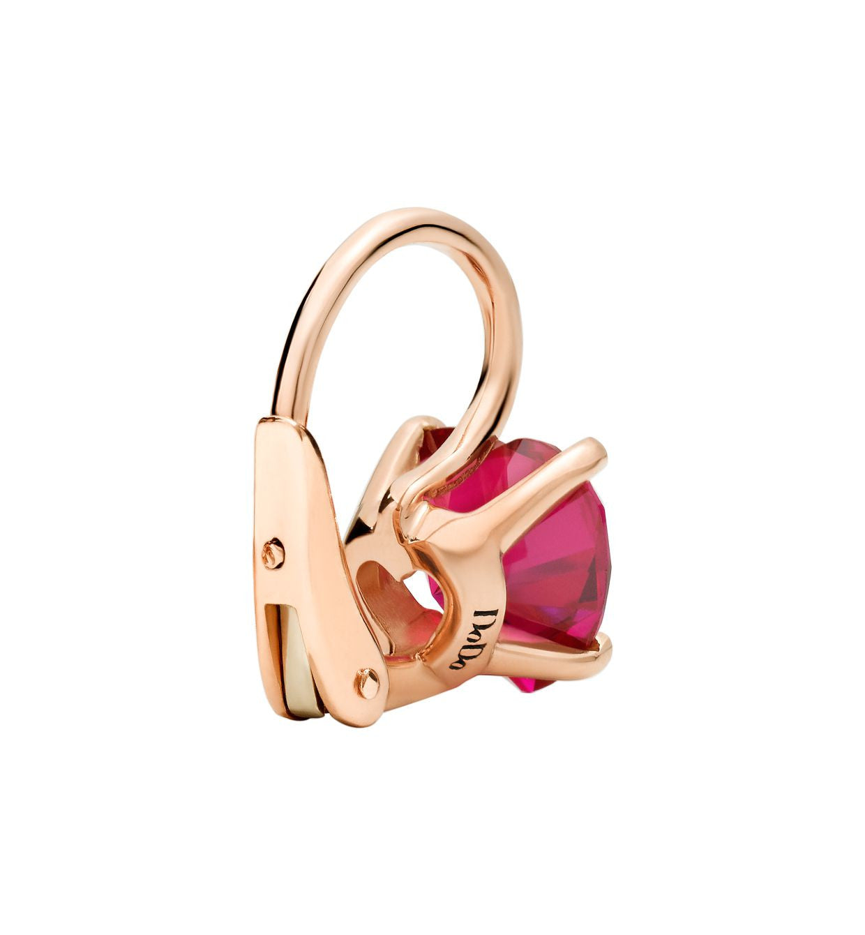 DoDo 100% Amore Earrings in 9k Rose Gold with Synthetic Ruby - Orsini Jewellers NZ