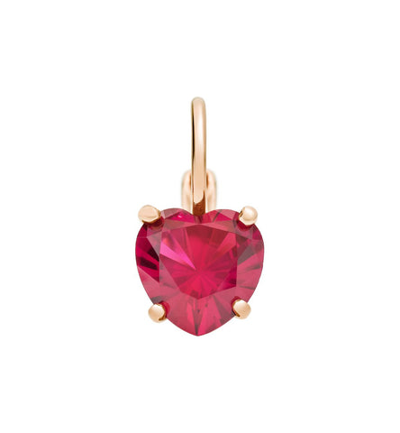 Dodo 100% Amore Earrings in 9k Rose Gold with Synthetic Ruby