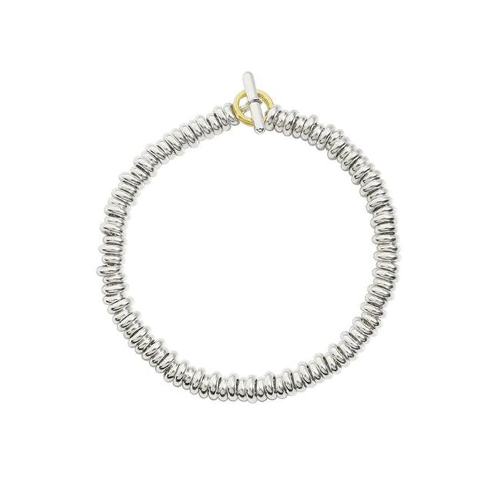 DoDo Rondelle Bracelet Kit in Silver with Yellow Gold Brise Ring - Orsini Jewellers NZ