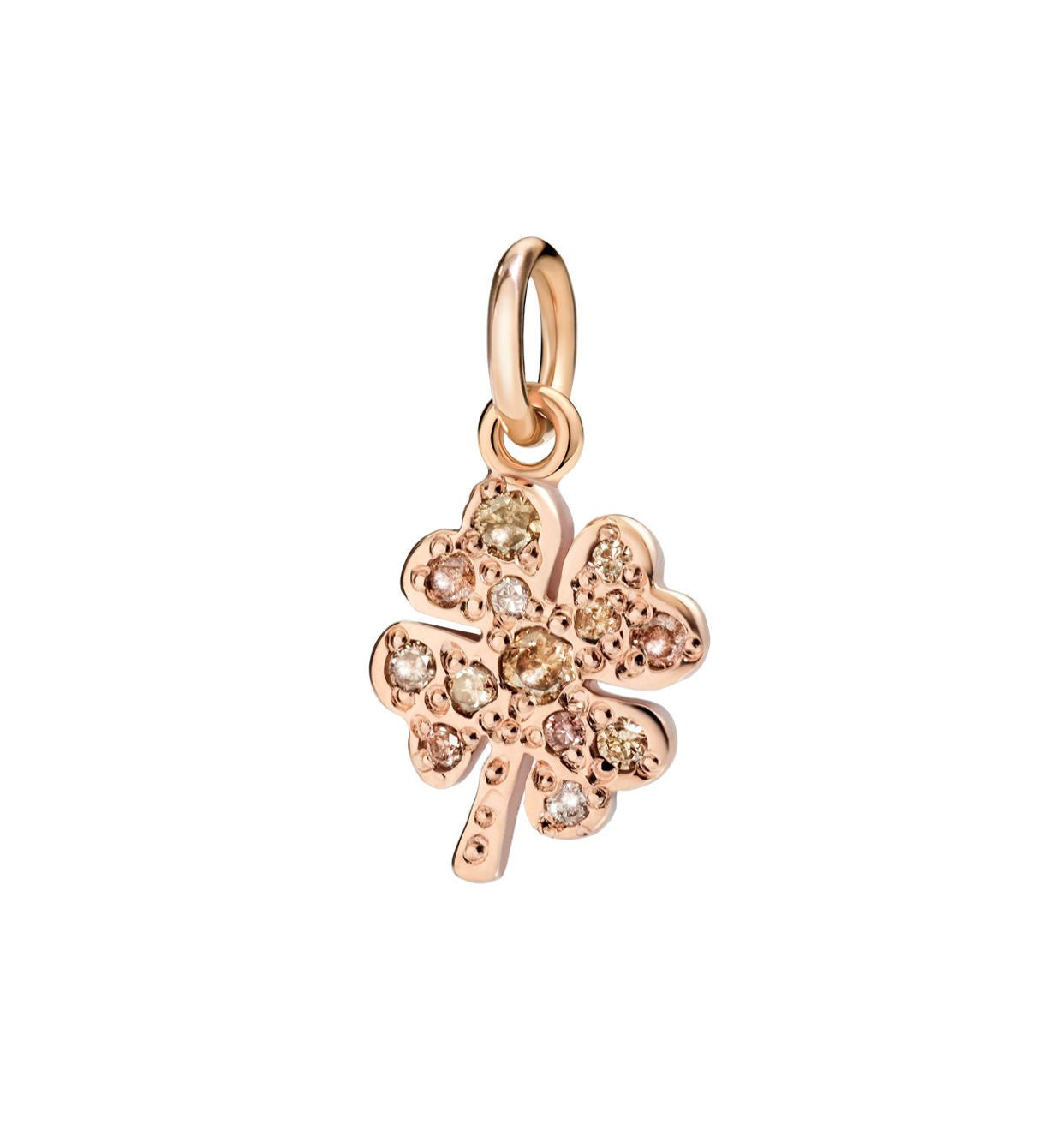 DoDo Four Leaf Clover in 9k Rose Gold with Brown Diamonds - Orsini Jewellers NZ