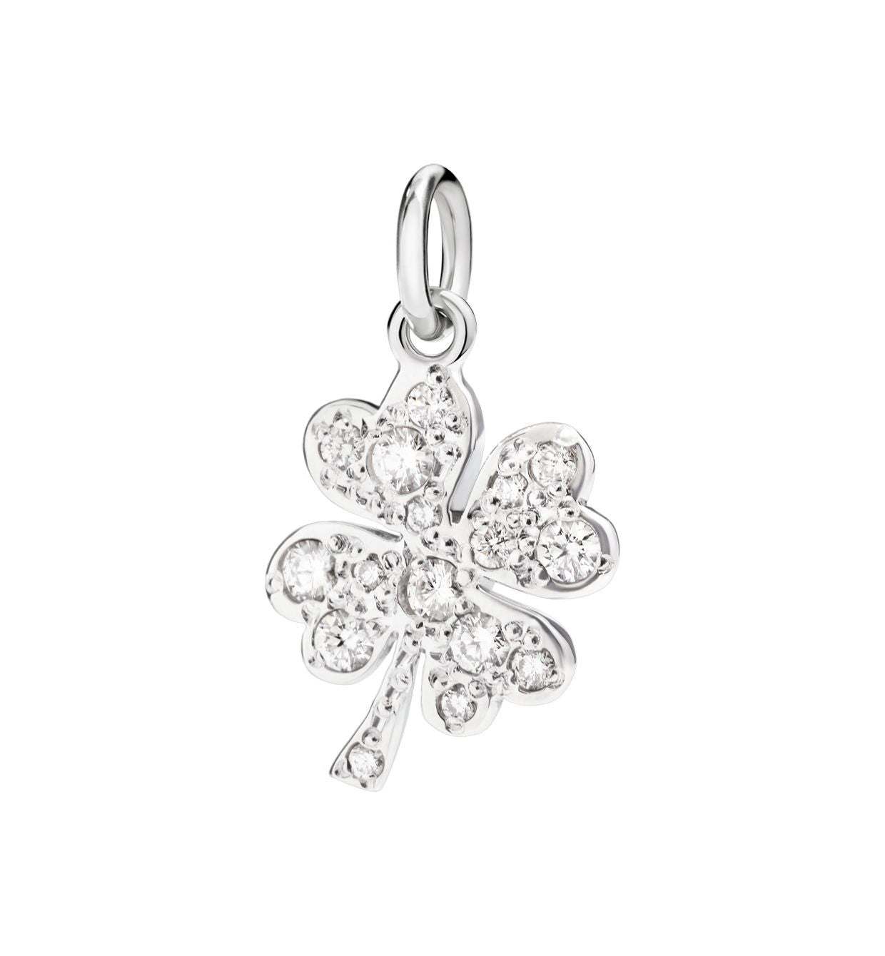 DoDo Four Leaf Clover in 18k White Gold with Diamonds - Orsini Jewellers NZ