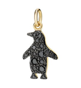 DoDo Penguin in 18kt Yellow Gold with Black Diamonds