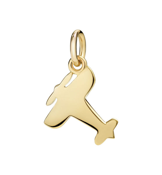 Dodo Plane charm in 18kt Yellow Gold