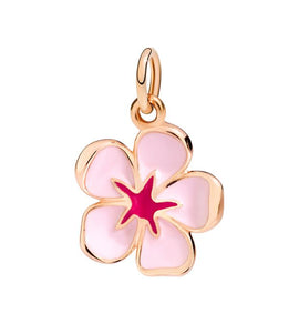DoDo Charm Cherry Blossom in 9k Rose Gold with Pink Enamel