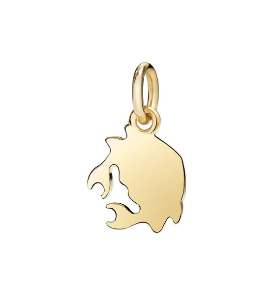 Dodo Crab Charm Yellow Gold