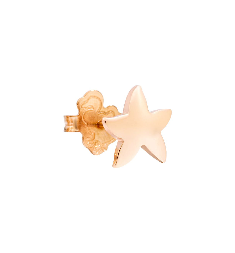 "Dodo Starfish Earrings Rose Gold ""Handle with care"""