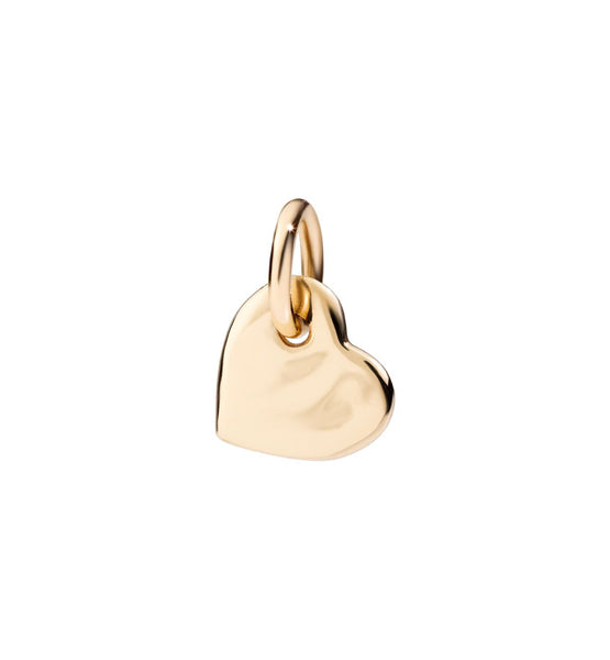 Dodo Heart Charm Yellow Gold