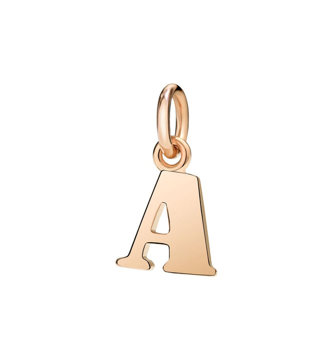 Dodo Letter A Charm in 9k Rose Gold
