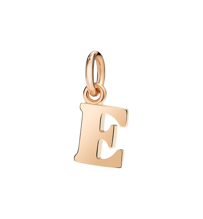 Dodo Letter E Charm in 9k Rose Gold