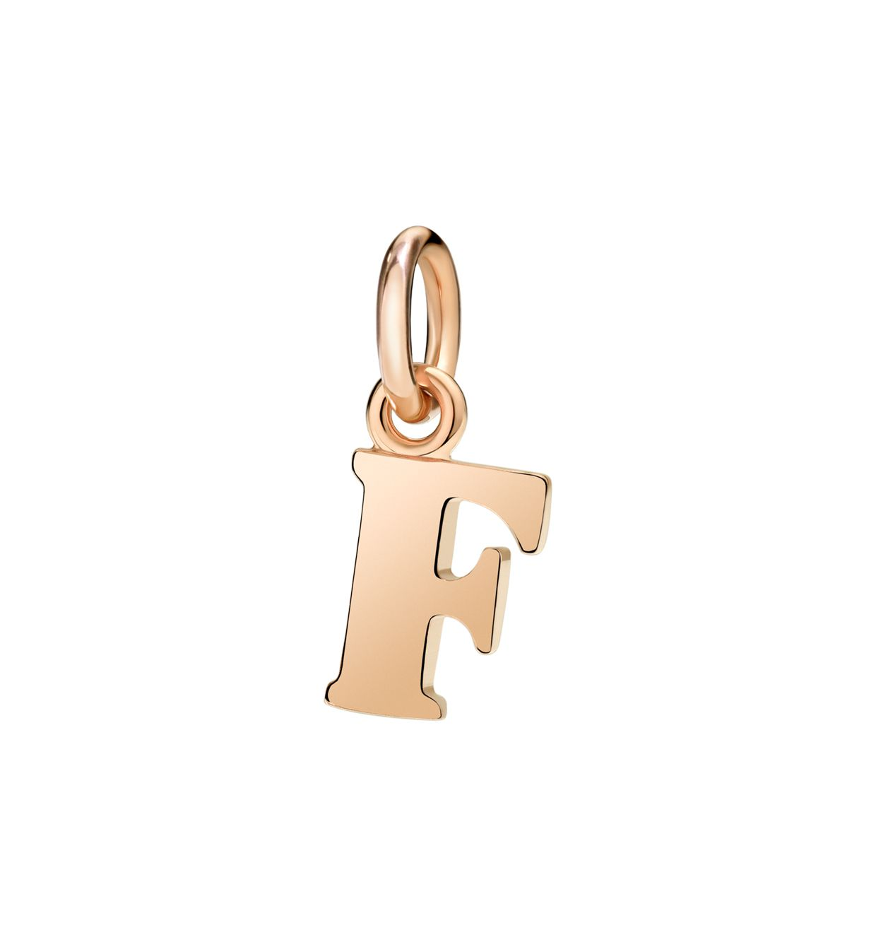 DoDo Letter F in 9k Rose Gold - Orsini Jewellers NZ