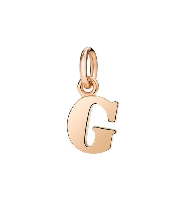 Dodo Letter G Charm in 9k Rose Gold